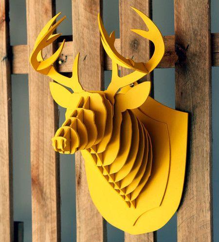 Cabeça de Alce Amarela - HC Store