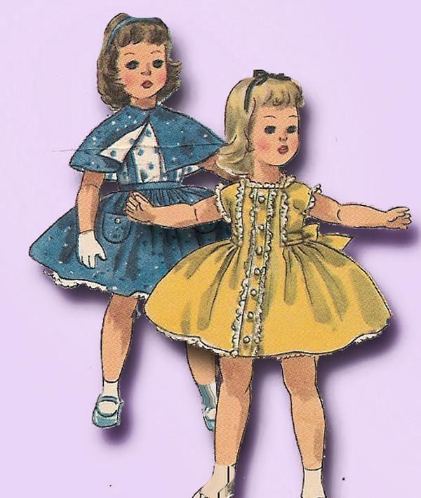 Simp 1779 1950s Sweet Sue /& Binnie Doll Clothes Pattern