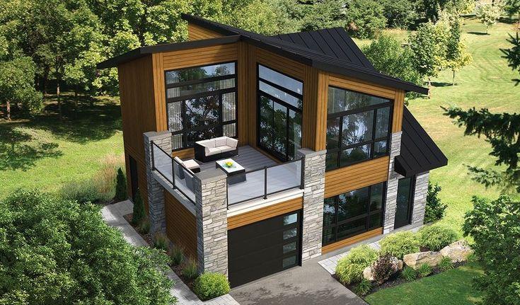 Increíble plano de casa lujosa de 85m2 en 2 pisos