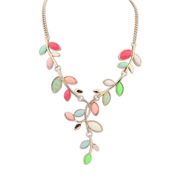 leave shape matching necklace . only $1.51 in beads.us