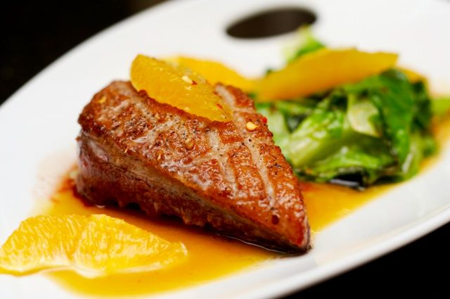 Roasted duck breast fillet with miso-orange sauce - Perfect winter wedding food