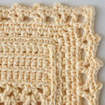 59 Free Crochet Patterns for Edgings, Trims, and Blanket Borders: 12. Crochet Lace Edging for Openwork Cotton Dishcloth or Other Projects