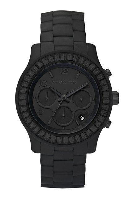 Michael Kors matte black watch