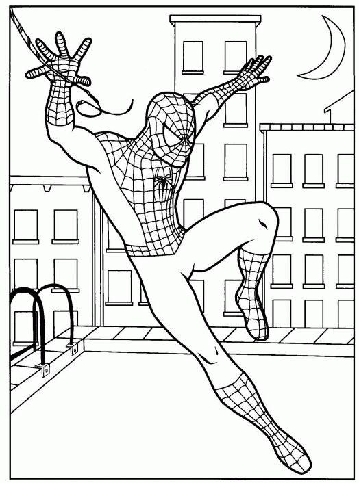 malvorlagen spiderman zum drucken 01  superhelden