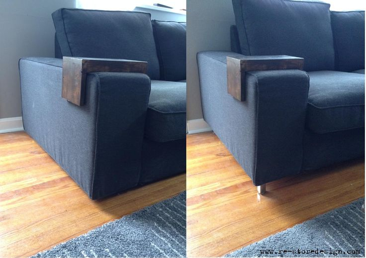 IKEA Kivik couch update  add silver legs  New Home