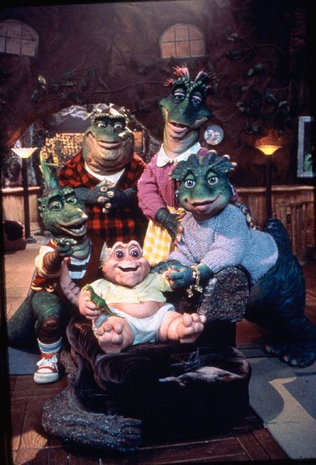 dinosaurs. WHY we used to watch this I will never know...