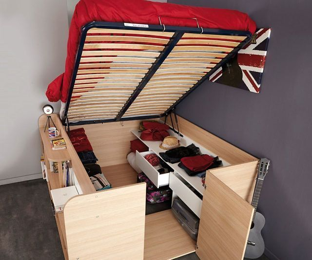 Space Up Bed And Storage Tiny House Storage Space Saving