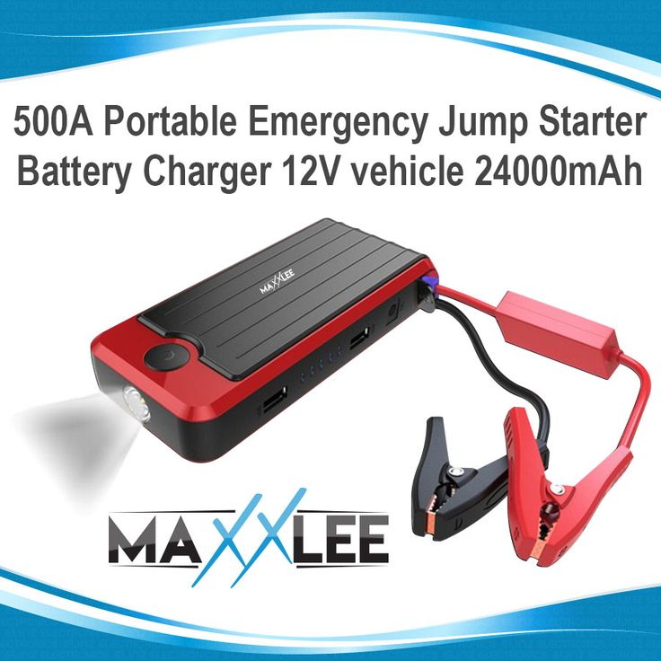 500A Car Vehicle Portable Emergency Jump Starter & Battery Charger 12V 24000mAh | Elinz