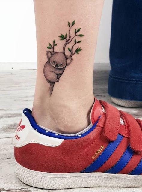 41 mini tatuagens coloridas para as mulheres! | Tatuagem colorida, Tatuagem de coala, Tatuagens