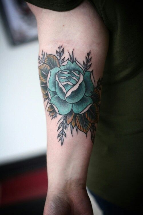 Turquoise tattoo ink