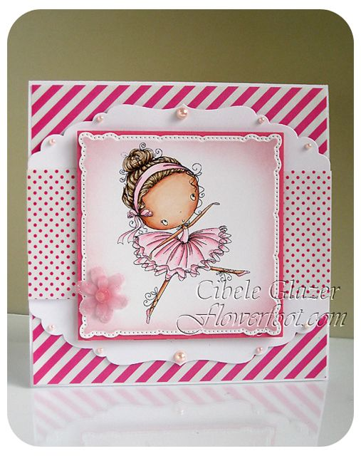 Flower Foot Designs: In the Pink Challenge #cardmaking #papercrafts #ballerina