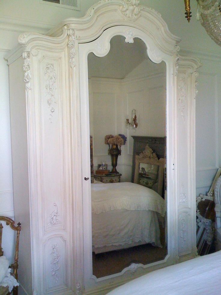❥ white armoire, full bloom cottage~ http://www.fullbloomcottage.blogspot.com/White Armoires