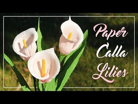 How To Make Crepe Paper Calla Lilies by Sarah Johnson @pugdemonium on YouTube