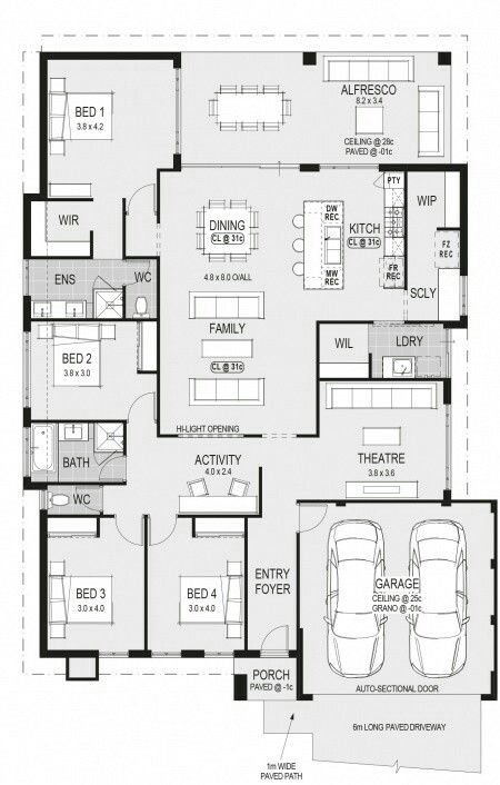 1000 images about building on pinterest 2d new home for Rear block house designs