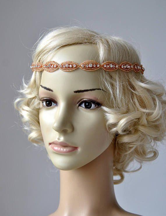 Rose Gold Thin Rhinestone Headband Bridal Wedding Headband Great ... 5d7e4df3eb5