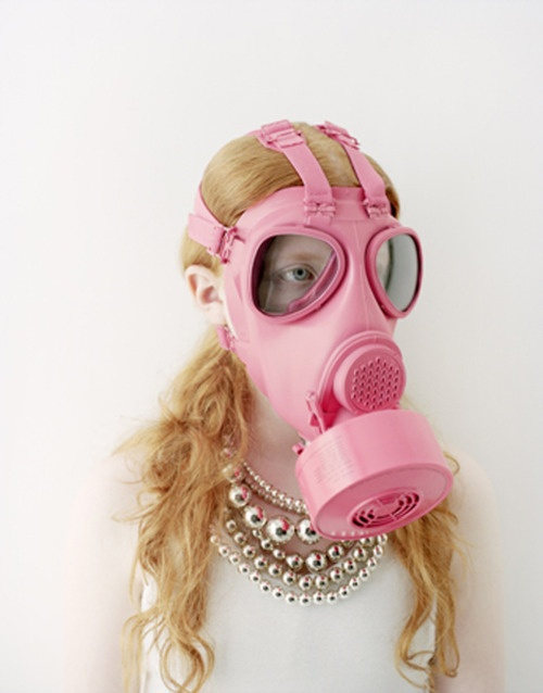 Girly Graphics / Art direction and design : Takasuke Onishi (Pink gas mask!!!)