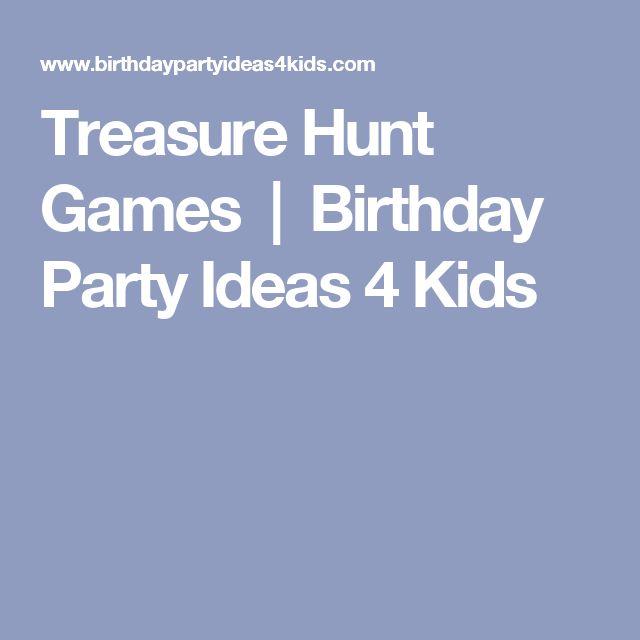 Treasure Hunt Games | Birthday Party Ideas 4 Kids