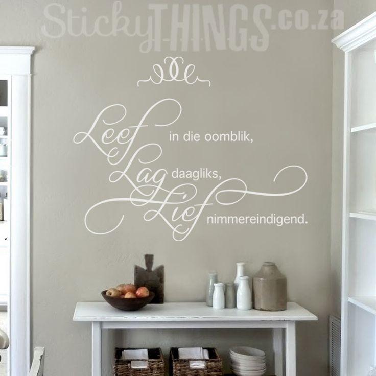 Leef Lag Lief Muur Plakker - StickyThings.co.za