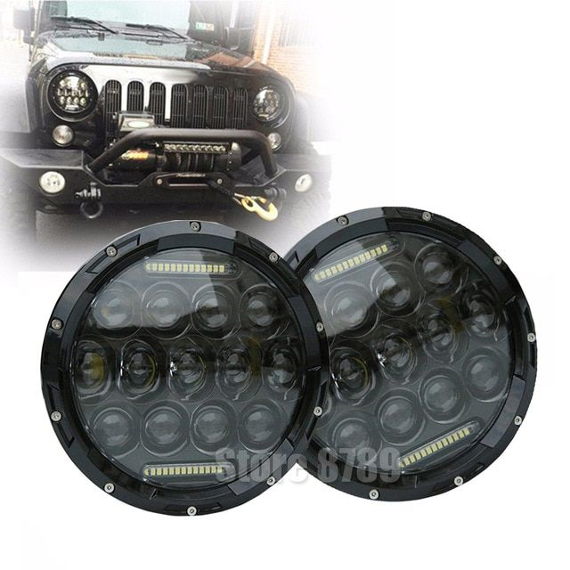 7 Inch High Low Beam H4 Led Halo Headlights 7auto Round Headlamp