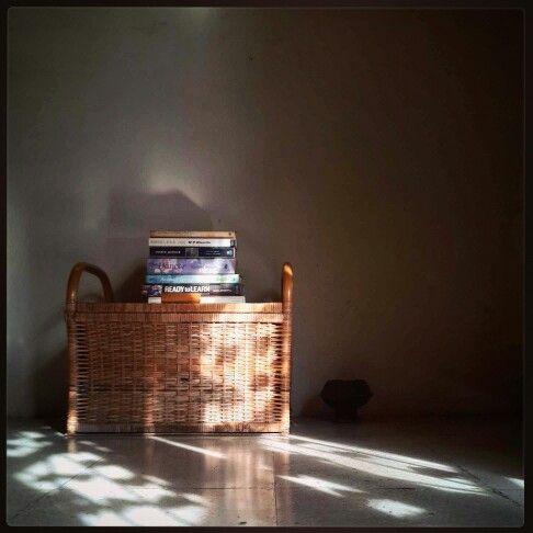 the morning sun kisses the books!