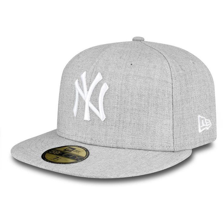 Gorra snapback gris ajustada 59FIFTY Essential de New York Yankees MLB de New Era