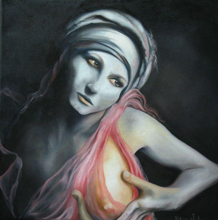 Artista Patricia Valor oleo 50x50 cm