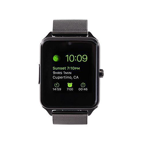 Smart Watch Cell Phone Bluetooth Camera SIM Smartphone for Android iPhone Black #SmartWatchCellphone