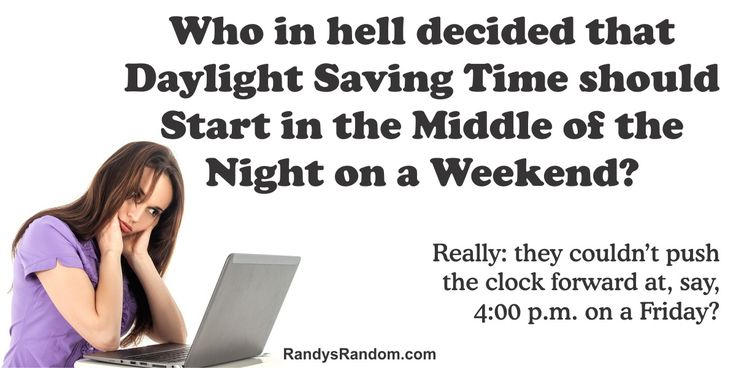 Daylight Saving Time - Randy's Random