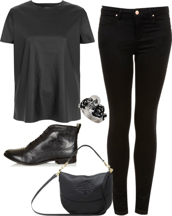 """""""inspired all black outfit"""" by hayleycarbran ❤ liked on Polyvore"""