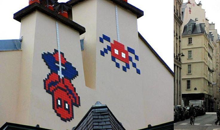 Space invader. #spaceinvader http://www.widewalls.ch/artist/space-invader/