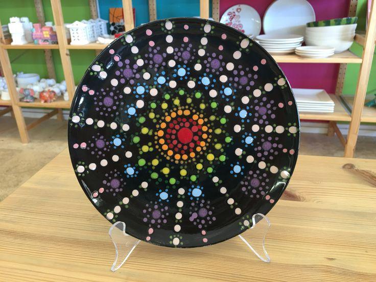 Dots | Colour My Pot #customerartwork #plates #handpainted #dots #potterypainting #colourmypot #paintyourownpottery https://plus.google.com/photos/118203478378317304508/albums/6448313950558844481?authkey=CNrDsfeWvtvu9QE