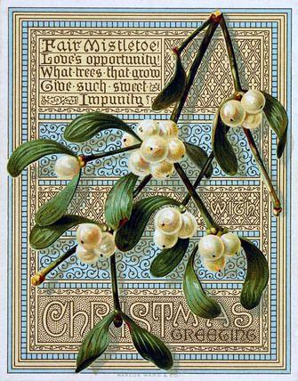 Victorian Christmas Card. England, 19th century.