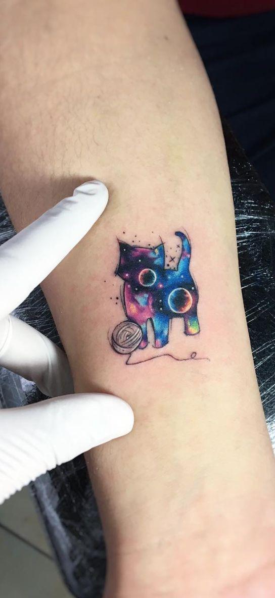 Space Tattoos Planeten #TattooDesigns #CatTattoo – #CatTattoo #Planeten #Space    – Tatowierung