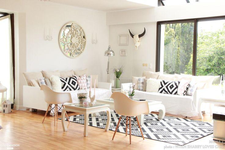 Notre salon scandinave, Mona J. - Côté Maison
