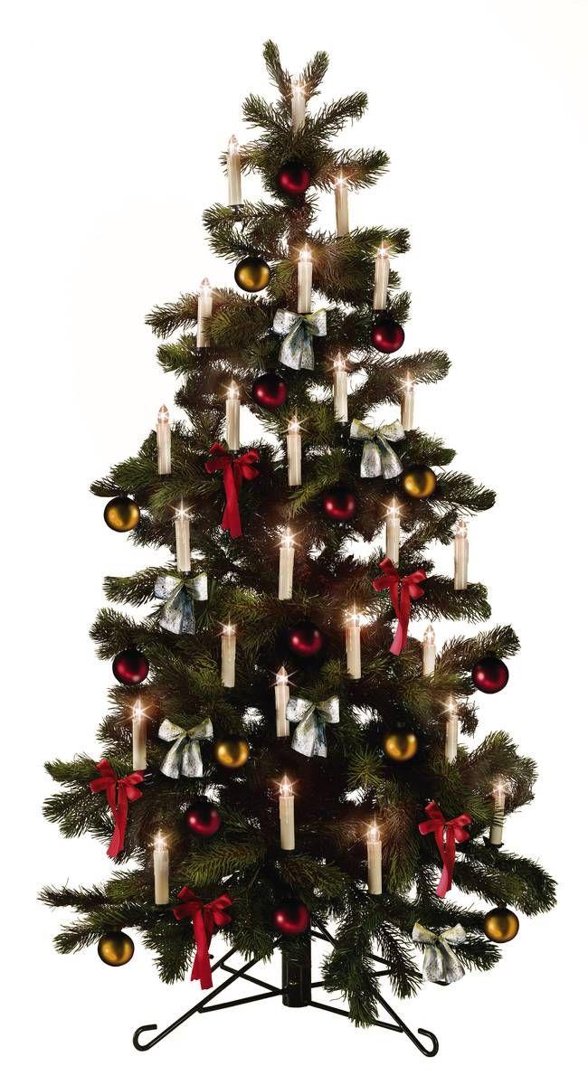 Festtagsglück Kerzentraum LED Weihnachtsbaumkerzen Christbaumkerzen Set mit Farbwechselfunktion + Fernbedienung