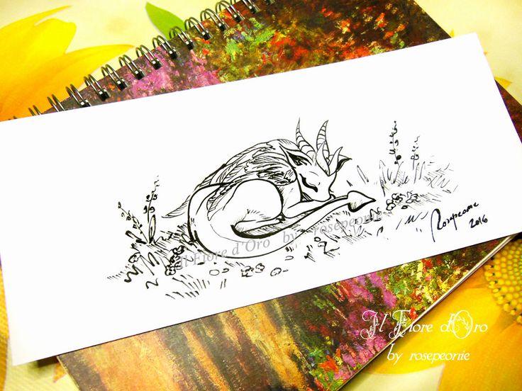 Drago Alargento che dorme. Disegno Haiku, illustrazione fantasy originale a inchiostro su carta alta qualità, drago mito collezione arte di ilFioredOro su Etsy https://www.etsy.com/it/listing/293640691/drago-alargento-che-dorme-disegno-haiku