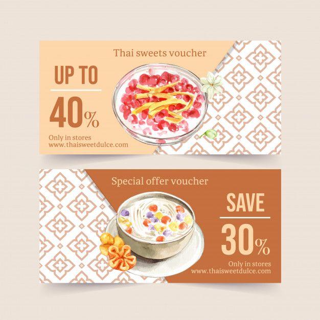 Download Thai Sweet Voucher Design With Coconut Milk Water