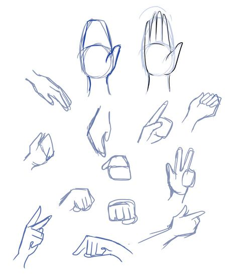 Simple mitten hands | Drawing tips in 2019 | Drawings, Art ...