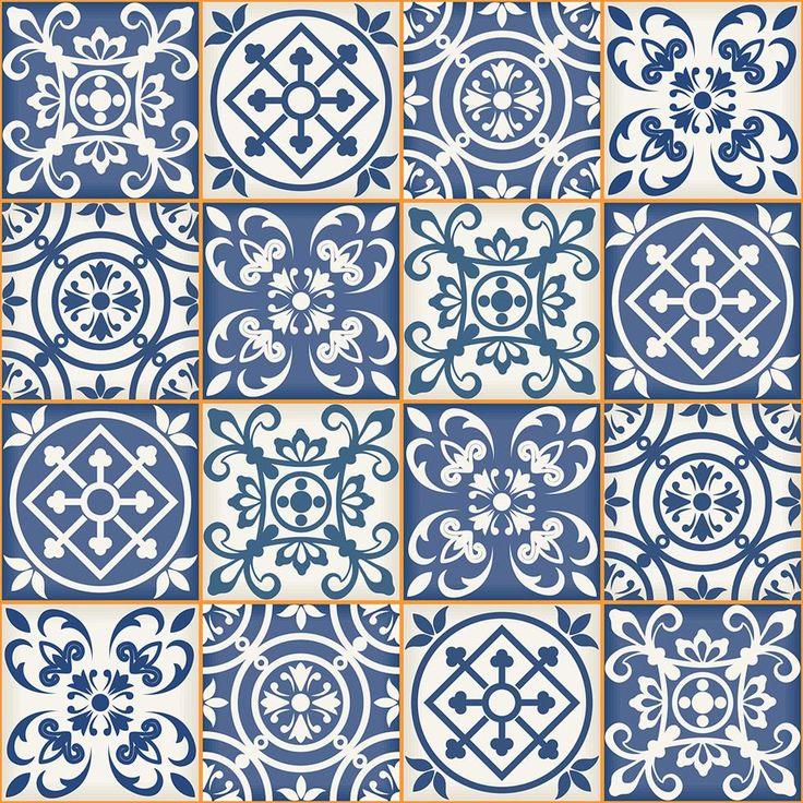 Papel de Parede Azulejo Portugues cozinha