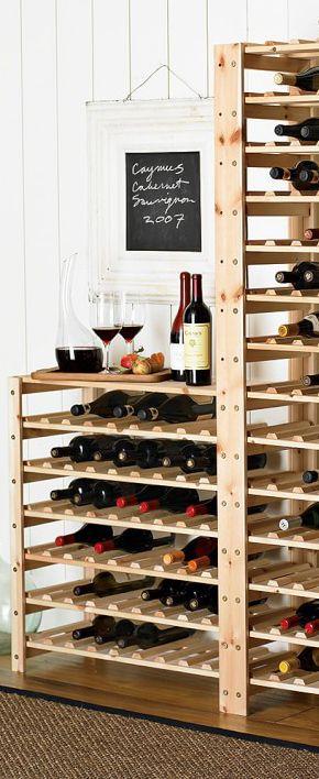 Swedish Wood Wine Shelves | Home Bar & Entertaining | www.earthgear.com