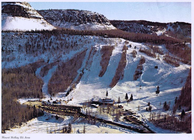 Postcard for Mount McKay Ski Area in Thunder Bay, Ontario, Canada, circa mid 1970s. Now abandoned.