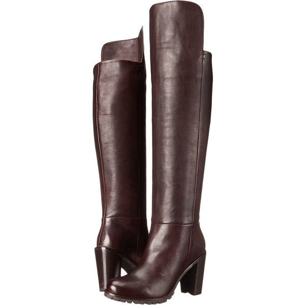 Seychelles Alexandrite (Dark Brown) Women's Boots ($165) ❤ liked on Polyvore featuring shoes, boots, brown, brown over-the-knee boots, seychelles boots, above the knee boots, pull on boots and rounded toe boots