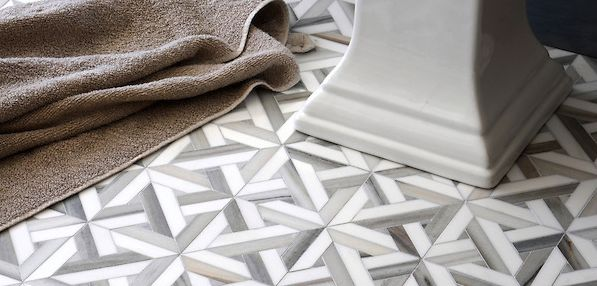 natural stone, grey and white, parquet tile for floors and walls