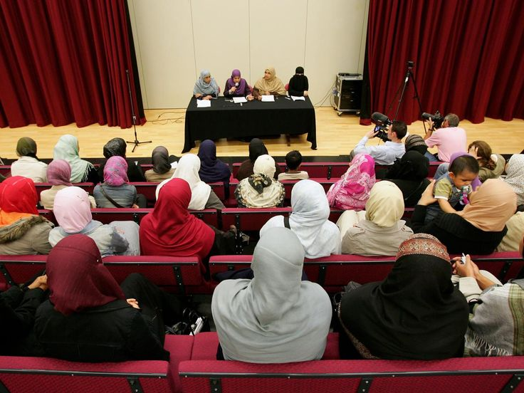 """British Muslim parents group say school's headscarf 'not modest enough'. The school previously allowed students to choose any style or length of headscarf as long as they were black. However, the school unveiled plans for approved veils over concerns some were not being worn """"correctly""""."""