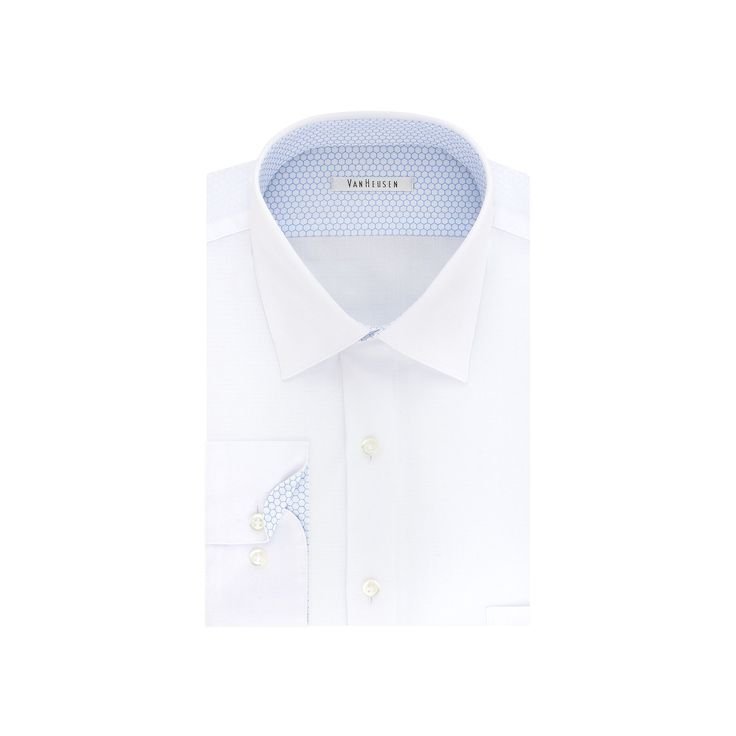 Men's Van Heusen Air Regular-Fit Stretch Dress Shirt, Size: 18.5-34/35, White