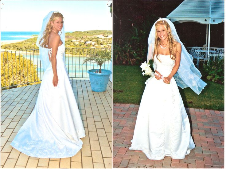 Fully beaded wedding gown in A-line