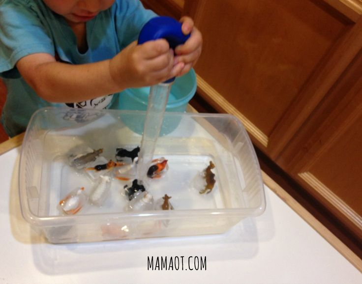How to use an ice cube tray for fine motor development. So creative!