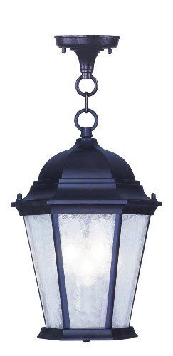 """Hamilton Outdoor Wall Lantern in Bronze Height: 14"""" by Livex Lighting. $119.90. 7564-07 Height: 14"""" Features: -Outdoor wall lantern.-Clear water glass. Options: -Available in 14', 16.5' or 19' height size. Construction: -Cast aluminum construction. Color/Finish: -Bronze finish. Specifications: -14'' Outdoor wall lantern accommodates (3) 40W candelabra bulbs.-16.5'' Outdoor wall lantern accommodates (1) 100W medium base bulbs.-19'' Outdoor wall lantern accommodates (3) 60W ca..."""