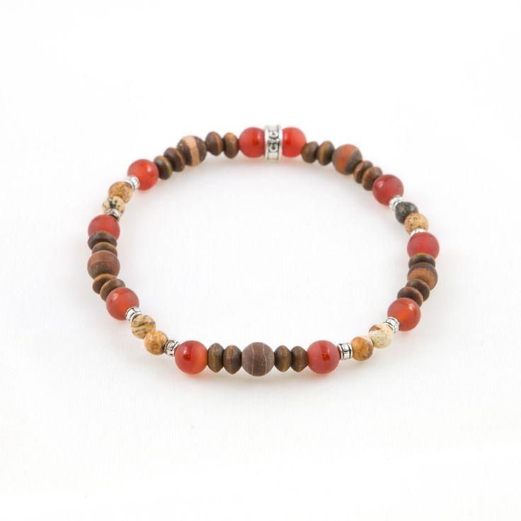 Men's Brown Pattern Bracelet