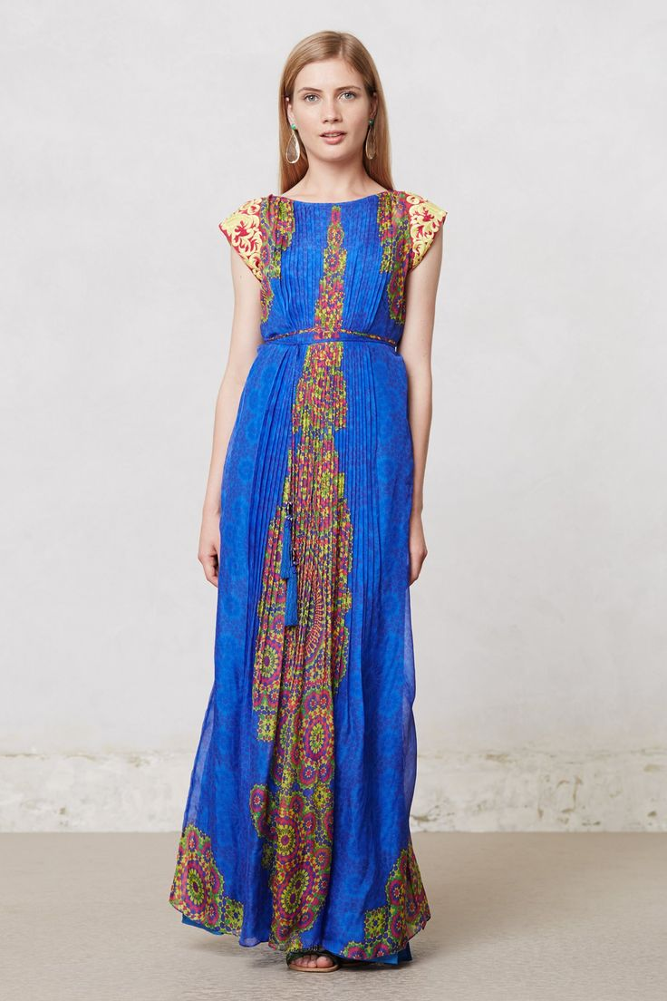 Apsara maxi dress dressed to the for Anthropologie mural maxi dress